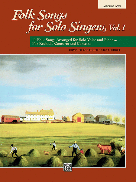 Folk Songs for Solo Singers - Vol. 1, Medium Low (Book)