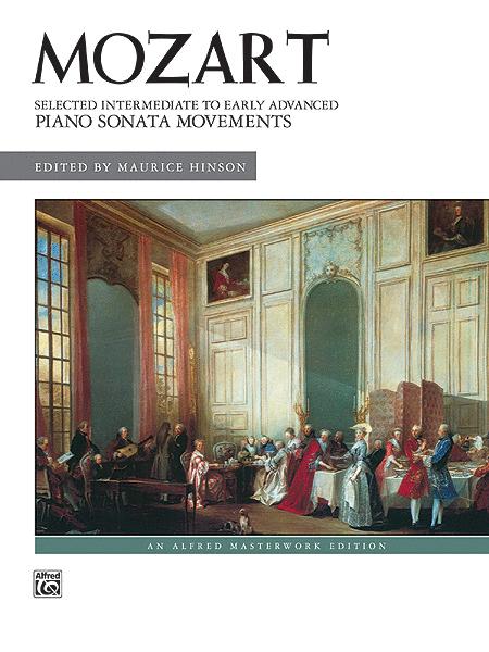 Mozart -- Selected Intermediate to Early Advanced Piano Sonata Movements
