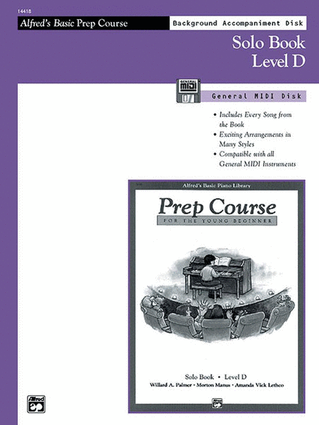 Alfred's Basic Piano Prep Course - General MIDI Disk For Solo Book Level D