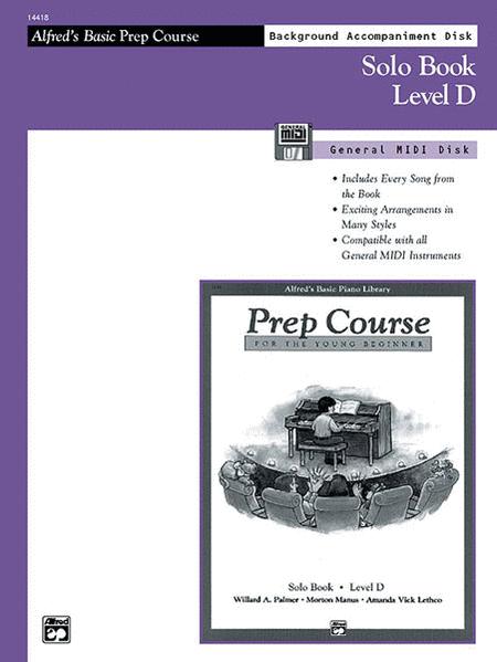 Alfred's Basic Piano Prep Course - General MIDI Disk For Solo Book Level D