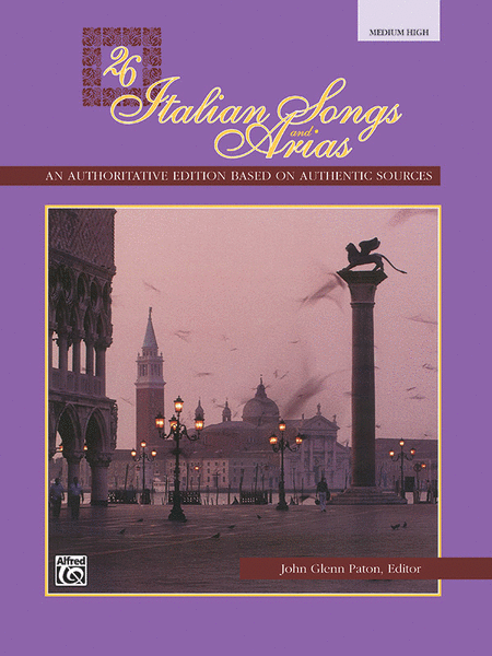 26 Italian Songs and Arias - Medium High Voice (Book)