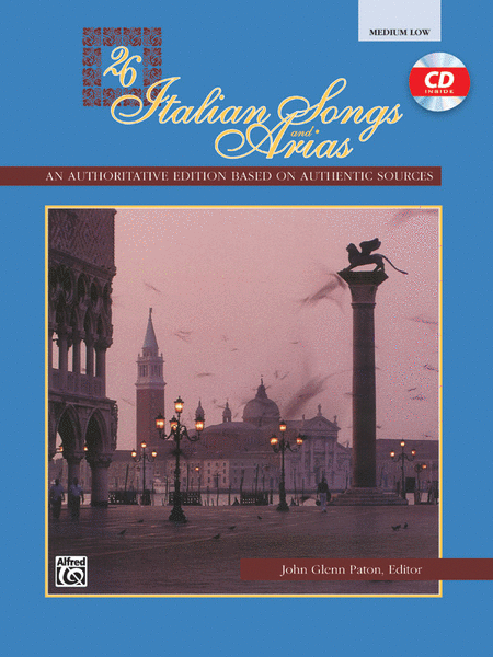 26 Italian Songs and Arias - Medium Low Voice (Book/CD)