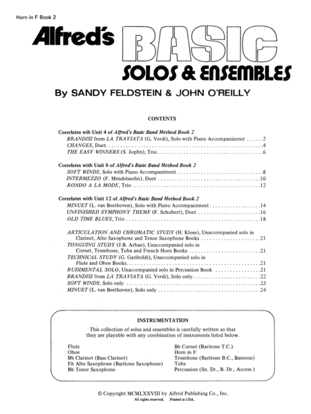 Alfred's Basic Solos and Ensembles, Book 2