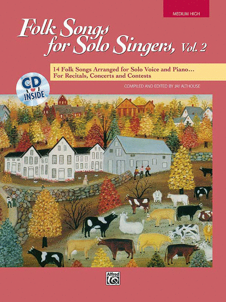 Folk Songs for Solo Singers - Vol. 2, Medium High (Book/CD)