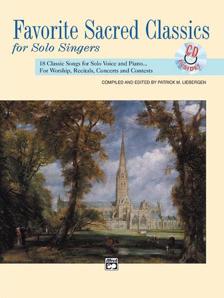 Favorite Sacred Classics for Solo Singers - Book/CD (Medium High)