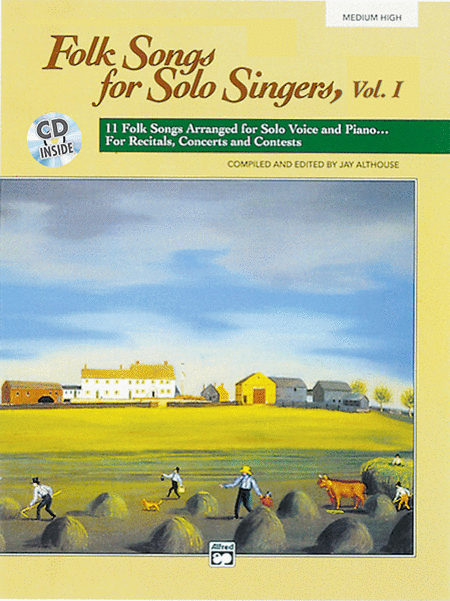 Folk Songs for Solo Singers - Vol. 1, Medium High (Book/CD)