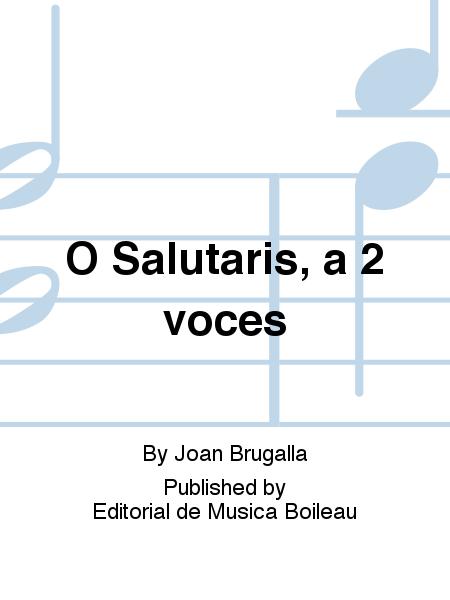 O Salutaris, a 2 voces