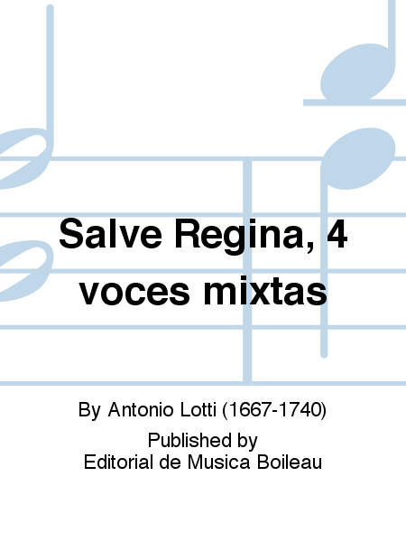 Salve Regina, 4 voces mixtas