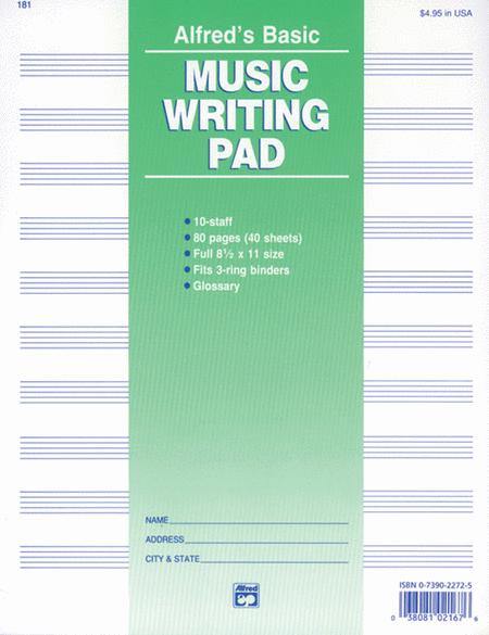 10 Stave Music Writing Pad