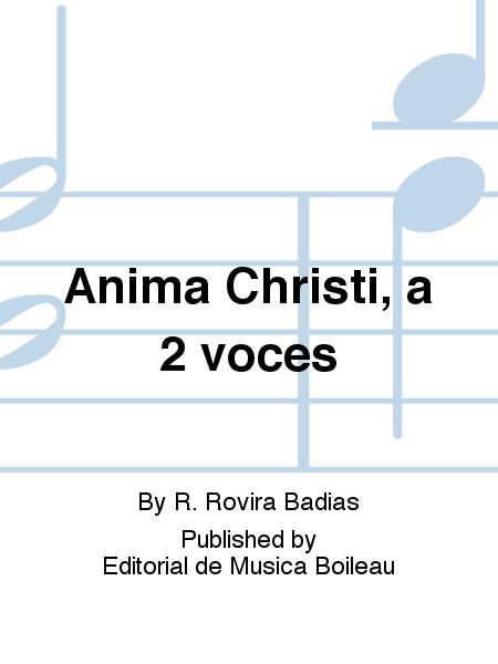 Anima Christi, a 2 voces