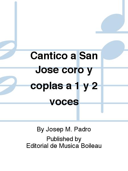 Cantico a San Jose coro y coplas a 1 y 2 voces