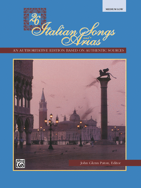 26 Italian Songs and Arias - Medium Low Voice (Book)