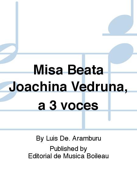 Misa Beata Joachina Vedruna, a 3 voces