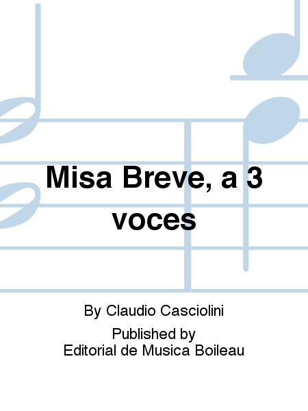 Misa Breve, a 3 voces