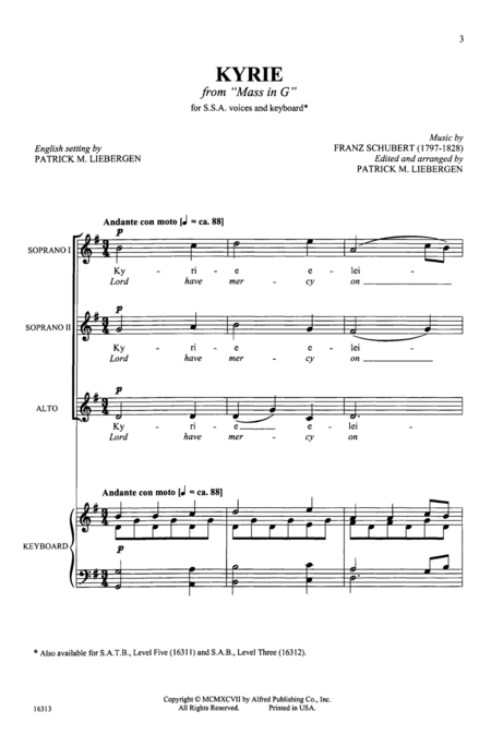 Kyrie (from Mass in G)