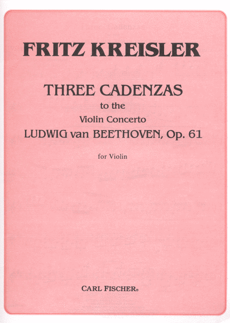Three Cadenzas to the Violin Concerto