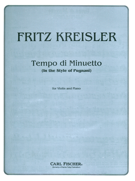 Tempo di Minuetto (In the Style of Pugnani)