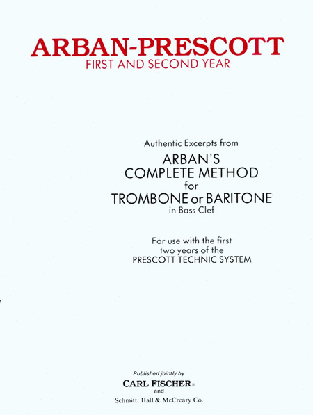 Arban-Prescott First and Second Year