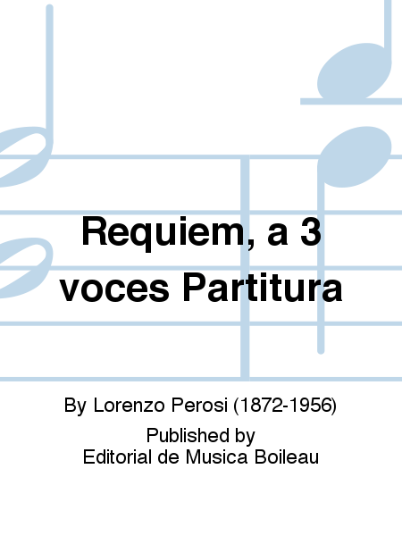 Requiem, a 3 voces Partitura