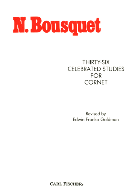 Thirty-Six Celebrated Studies For Cornet