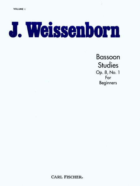 Bassoon Studies, Op. 8, Bk. 1-For Beginners