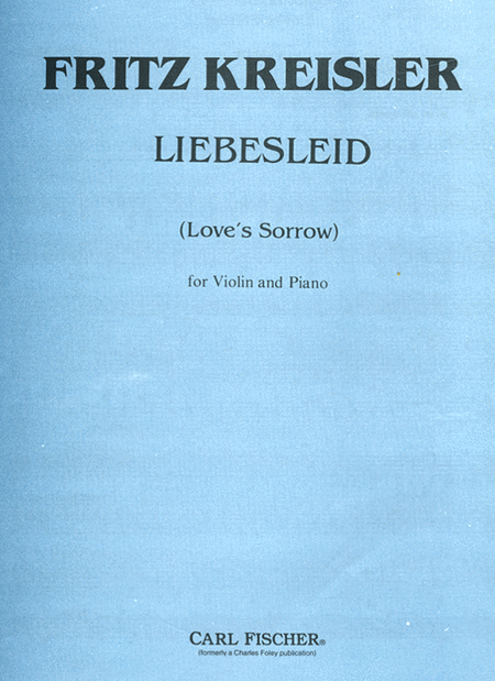 kreisler liebesleid violin sheet music pdf