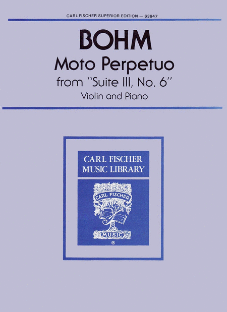 Moto Perpetuo from 'Suite III, No. 6'