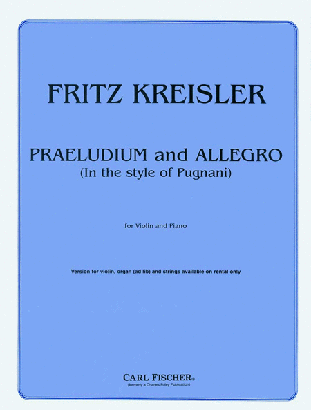 Praeludium and Allegro (In the Style of Pugnani)