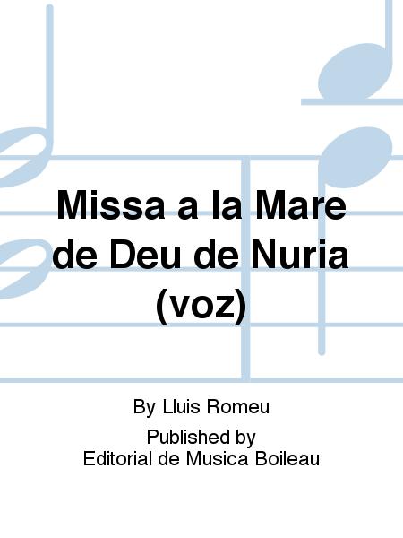 Missa a la Mare de Deu de Nuria (voz)