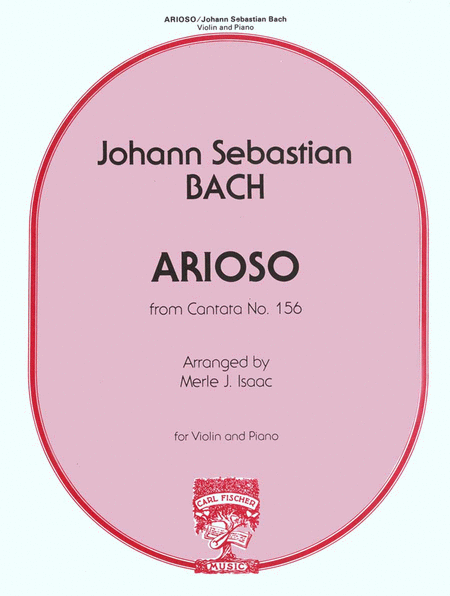 Arioso from 'Cantata No. 156'