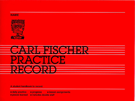 Carl Fischer Practice Record Book