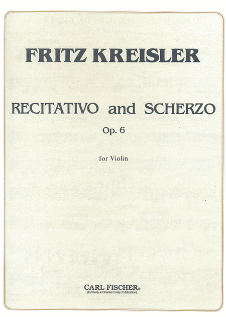 Recitativo And Scherzo, Op. 6