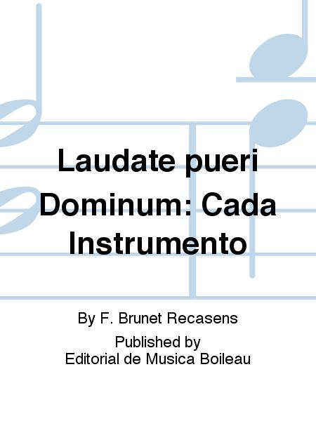 Laudate pueri Dominum: Cada Instrumento