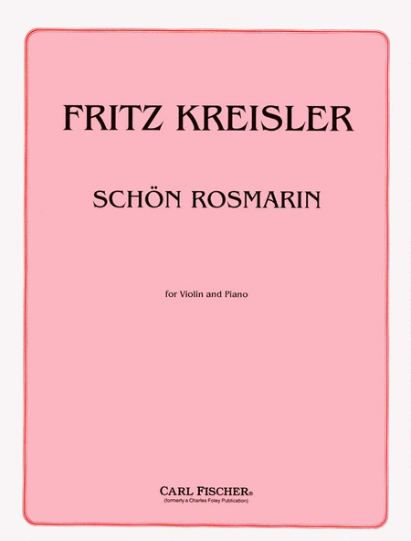 Schon Rosmarin (Fair Rosmarin)
