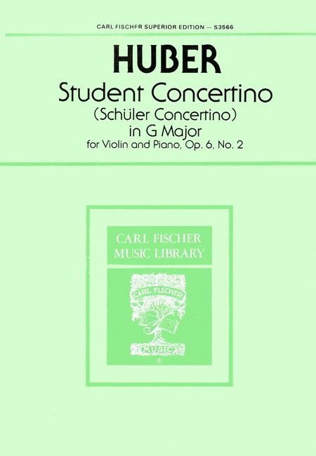 Student Concertino in G Major, Op. 6, No. 2