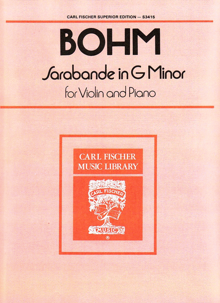 Sarabande in G Minor