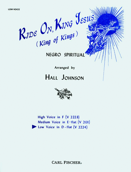 Ride On, King Jesus (King of Kings)-Low in D Flat