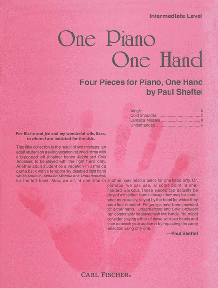 One Piano One Hand