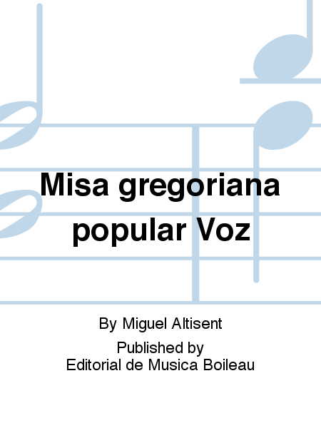 Misa gregoriana popular Voz
