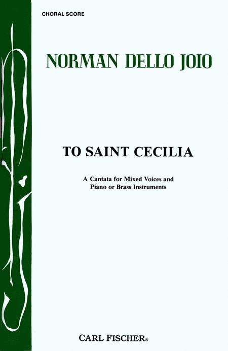 To Saint Cecilia - Choral Score