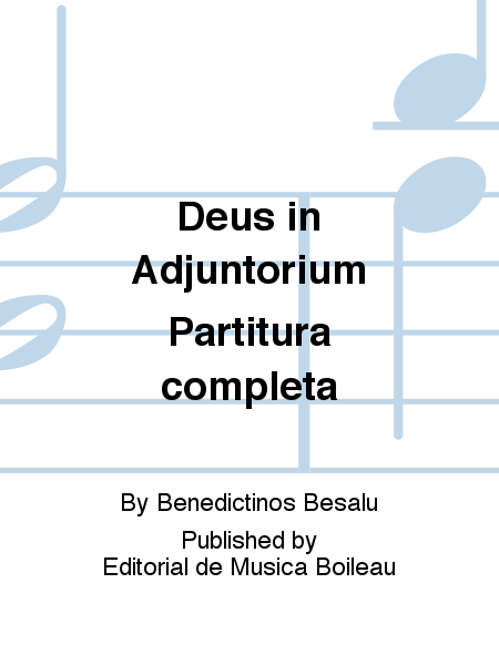 Deus in Adjuntorium Partitura completa