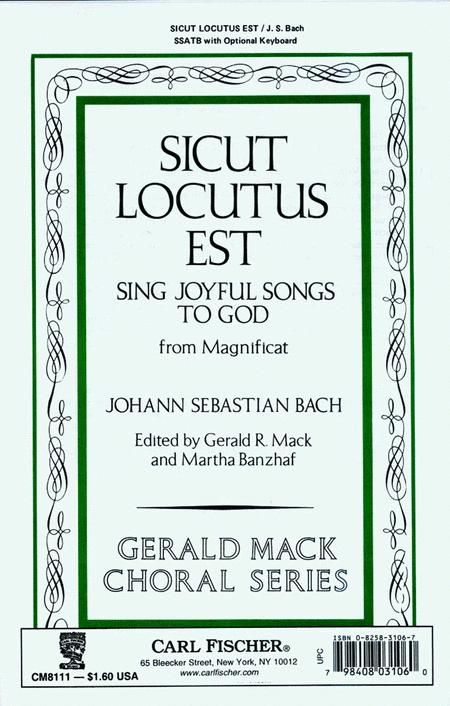 Sicut Locutus Est (Sing Joyful Songs to God)