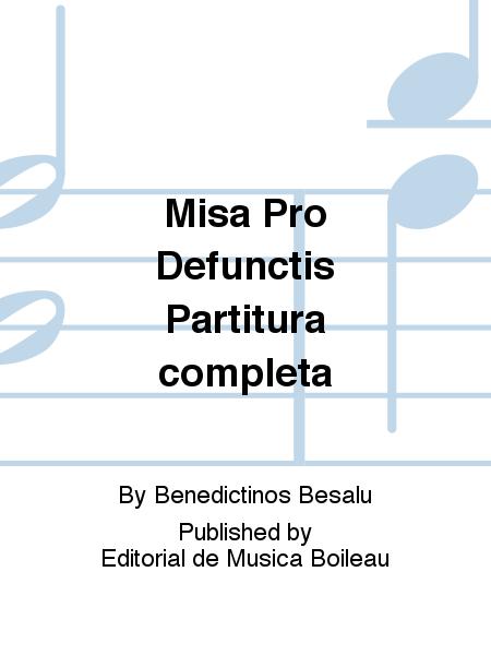 Misa Pro Defunctis Partitura completa