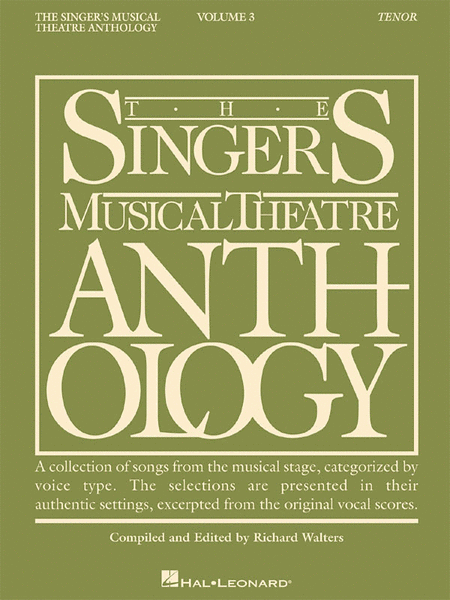 The Singer's Musical Theatre Anthology - Volume 3 - Tenor (Book only)