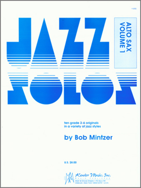 Jazz Solos For Alto Sax, Volume 1