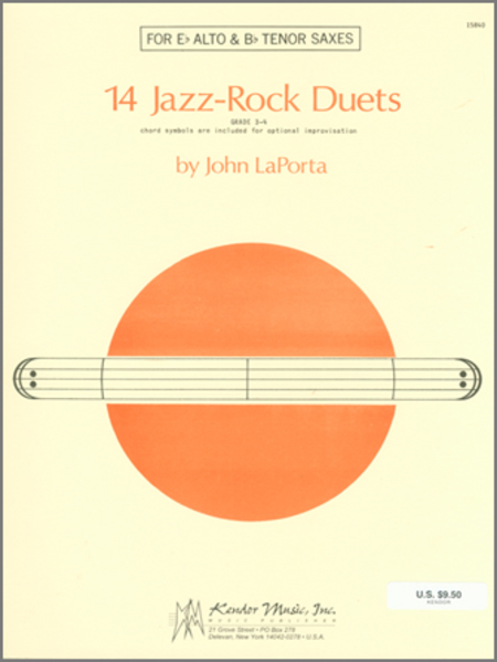 14 Jazz-Rock Duets (alto & tenor sax)