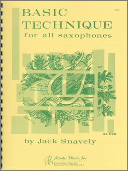 Basic Technique For All Saxophones