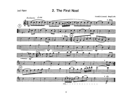 Christmas Carols For Flute Choir - 3rd Flute