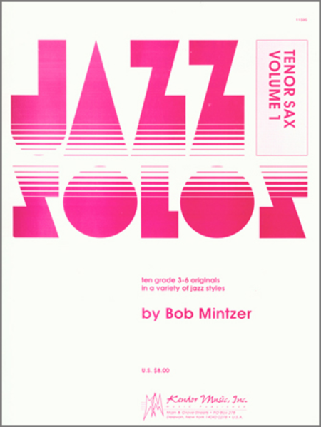 Jazz Solos For Tenor Sax, Volume 1