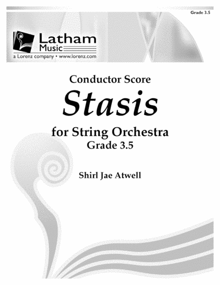 Stasis for String Orchestra - Score